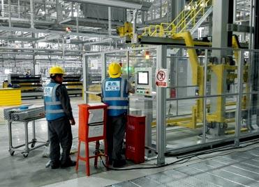 汽车生产线安全围栏项目施工